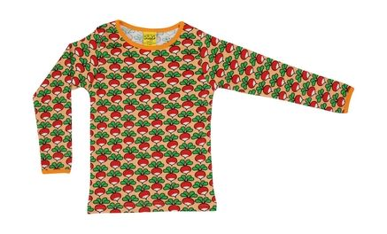 Duns Long Sleeve Top Canteloupe Radish