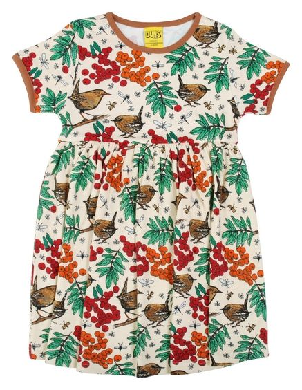 Duns Short Sleeve Gathered Dress Mother of Pearl Rowanberry