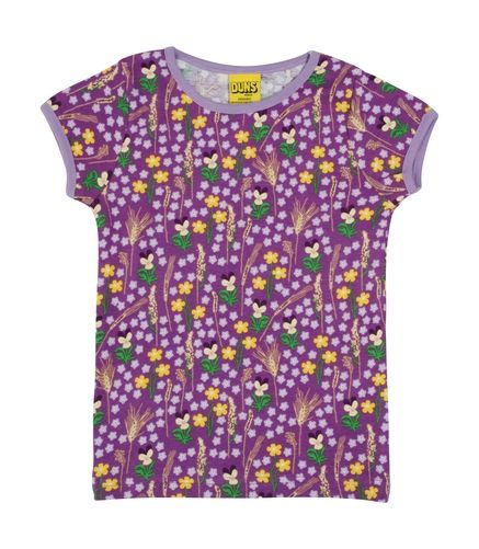 Duns Short Sleeve Top Purple Meadow