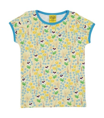 Duns Short Sleeve Top Yellow Meadow