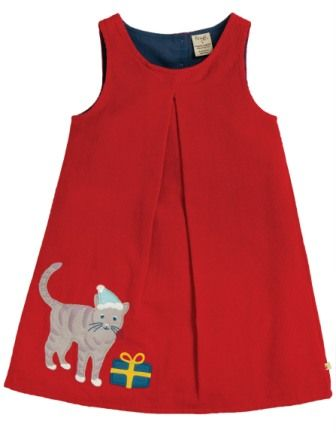 Frugi Amber Applique Dress Cat