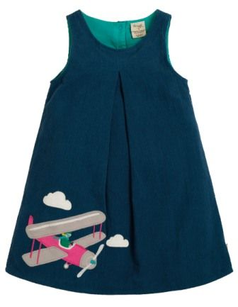 Frugi Amber Applique Dress Space Blue Pilot