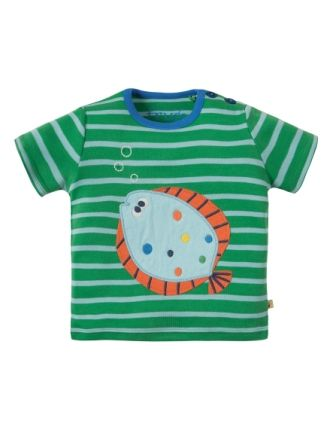 Frugi Atlantic Applique T-shirt Field Fish