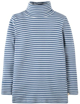 Frugi Ava Stripe Roll Neck Blue Lake (5-6yrs only)
