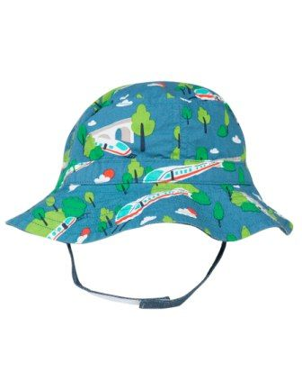 Frugi Bullet Train Little Dexter Reversible Hat
