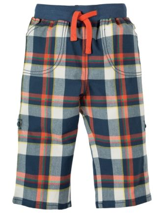 Frugi Check Roll Up Trousers Multicheck SS18