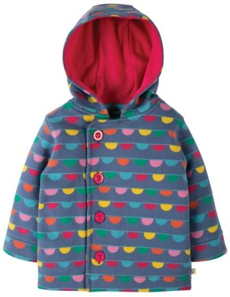 Frugi Cosy Button Up Jacket Bunting