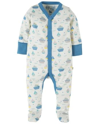 Frugi Darling Babygrow Summer Seas