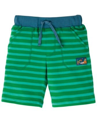 Frugi Green Stripe Stripy Shorts