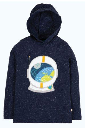 Frugi Jaco Hoody Space Blue Astronaut