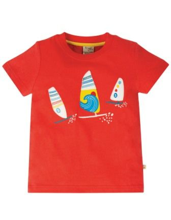 Frugi Koi Red Boats Stanley T-shirt