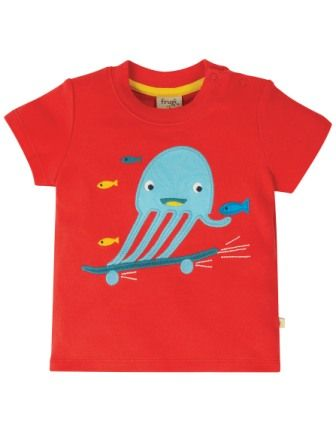 Frugi Koi Red Jellyfish Little Creature Top
