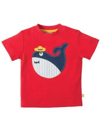 Frugi Little Creature Top Tomato Whale