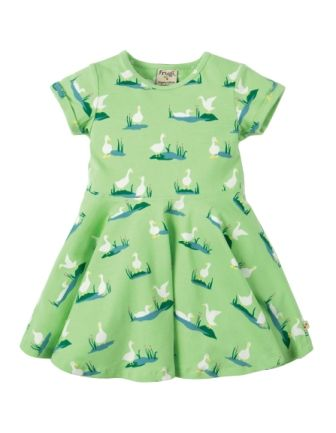 Frugi Little Spring Skater Dress Duck Ponds