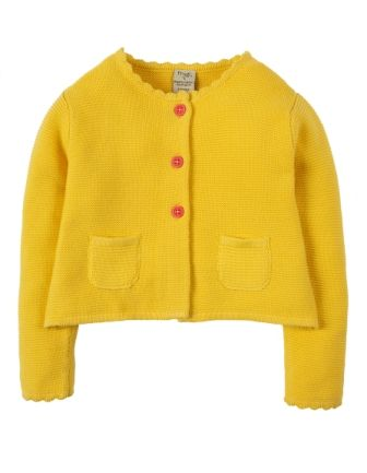 Frugi Milly Swing Cardigan Sunshine