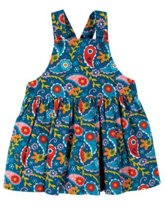 Frugi Pixie Paisley Pippin Cord Pinafore