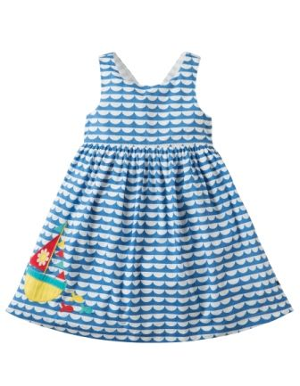 Frugi Porthcurno Party Dress High Tide Boat