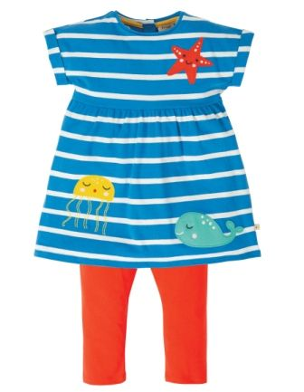 Frugi Sealife Olive Outfit