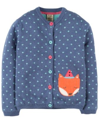 Frugi Seren Cardigan Navy Fox
