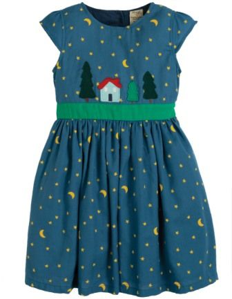Frugi Sparkle & Shine Dress Christmas Town