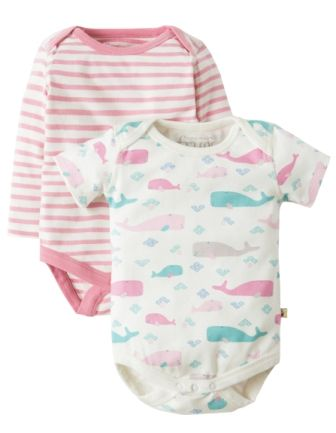 Frugi Teeny Body 2 pack Little Whales Multipack