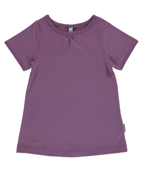 Maxomorra A-Line Short Sleeve Top Dusty Purple