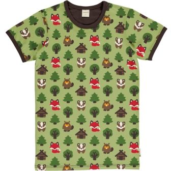 Maxomorra Adult Green Forest Short Sleeve Top