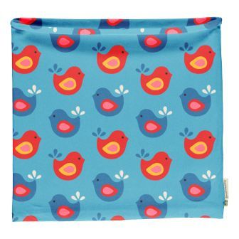 Maxomorra Bright Birds Tube Scarf