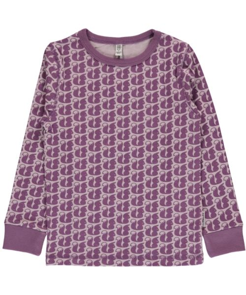Maxomorra Long Sleeve Top Squirrel
